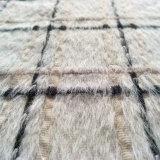 Tissu de laine fine vérifié avec l'alpaga pour vêtements d'hiver tissu du vêtement du tissu