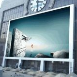 Colore completo esterno del centro commerciale che fa pubblicità al tabellone del LED