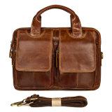 安い価格の良質のブラウンの最上層の革メッセンジャーデザイナー袋