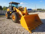 3 toneladas de 1,8 metro cúbico 92kw pequenas carregadora de rodas dianteira