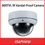 caméra de sécurité fixe à l'épreuve du vandalisme de dôme de télévision en circuit fermé de 800tvl IR (D22)