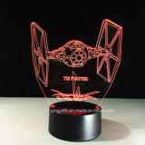 3D Laser die de AcrylLamp van de Nacht met LEIDEN Licht graveren
