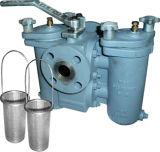 Filtro frente e verso da cesta com a válvula de plugue de três maneiras