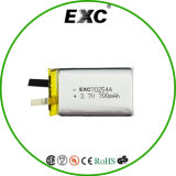 Ce, UL 3.7V 700mAh Rechargeable Lithium Polymer Battery 702544