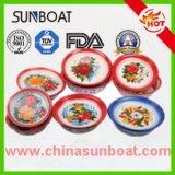 Chinês Tradicional Flor Lavatório de esmalte
