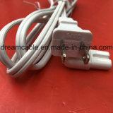 cordon d'alimentation blanc d'UL de la NEMA 1-15p 2pin de 1.2m Non-Polaried avec le CEI C7 de cornière