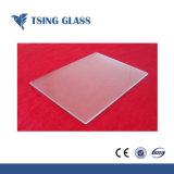Mate de vidrio templado de color claro con los orificios y ranuras de bisagra/bordes pulidos