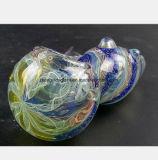 Blauer Glaswasser-Rohr-Filter-Tabak, der Glaswasser-Rohr aufbereitet