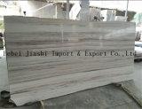 Marmo di legno bianco di cristallo poco costoso della vena per i disegni della pavimentazione