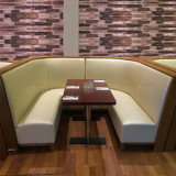Cabine de restaurant de vue et Tableau incurvés par meubles en bois commerciaux (sp-CS335)