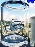 tubulação de água de fumo de vidro de Perc do Birdcage da esfera do favo de mel de 18inch 5thickness