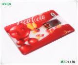 Vara transparente do USB do cartão de crédito com logotipo colorido (WY-C11)