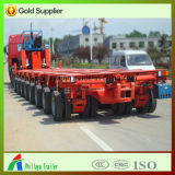 Pescoço de cisne hidráulico Cama Baixa semi reboque de veículos pesados de transporte da máquina
