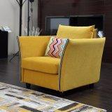 Sofà del tessuto della sede di colore giallo uno di disegno di Morden per la casa