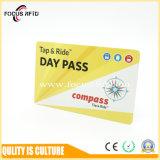 Carte RFID en plastique Em/TK4100 /Mifare 1K/Ntag/DESFire EV1 pour l'e-ticket et le contrôle des accès