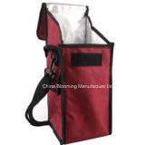 O piquenique ao ar livre isolado ensaca o saco fresco do almoço do refrigerador com cinta de ombro