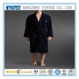 Robe longue 100% de peignoir tissée par poids léger de tissu de Terry du coton des hommes