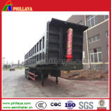 Eixo 3 30-60 cbm Truck Final para trás o Dumper semi reboque