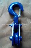 La poulie coupée de câble métallique H418 avec l'émerillon a modifié le crochet