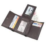 Лучшие продажи дешевой цене Логотип кредитной карты бумажник коричневый кожаный чехол для голени RFID Wallet