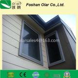 Painel / placa de revestimento de cimento de fibra de madeira e grão (material de construção)