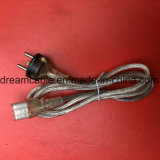 Transparente de 1,2 m de cable de alimentación de Dinamarca Demko con IEC 320 C13
