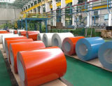 A cor galvanizada Prepainted das bobinas PPGI do ferro e do aço revestiu o rolo do metal
