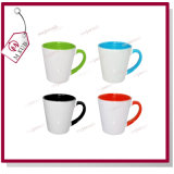 tazza colorata interna di ceramica di Latte di sublimazione 12oz