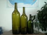 750ml borran la botella de vino de cristal