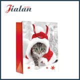 Impreso Perros & Gatos Papel De Marfil Embalaje De Navidad Bolsa De Papel De Regalo