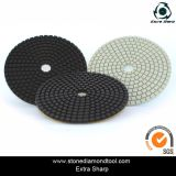 4 pouces Veclro Granite Diamond Wet 3 étapes Polishing Pads