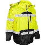 Зимы нашивок безопасности дороги видимости Ripstop куртка водоустойчивой высокой отражательной с капюшоном