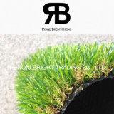 Hierba sintetizada de la decoración/césped artificial/alfombra artificial de la hierba
