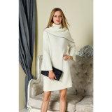 2018 جديد تصميم نساء طويلة أسلوب نمو كوريّة أسلوب كنزة ثوب أبيض لون بيع بالجملة