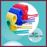 15m 8mm bleu en plastique flexible spiralé de PU