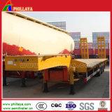 60 Toneladas 3 Eixo Lowbed Cama Baixa semi reboque para transporte de equipamentos pesados