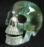 Natürliche Fluorit-Quarz-Hand geschnitzte super realistische Kristallschädel für Verkauf