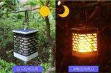Alimentada a energia solar Piscina Garde a cintilação suporte para velas lanterna LED Lâmpada de Luz