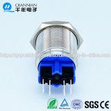 Qn22-B3 de 22mm|Alta cierre momentáneo de la cabeza del cóncavo Terminales Interruptor Pulsador de metal