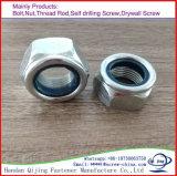 Écrous de blocage en nylon de garniture intérieure de la boucle DIN985 982 d'Unichrome de placage blanc bleu de zinc