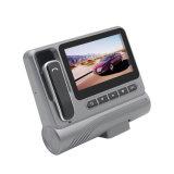 Câmera 1080P da caixa negra do carro com visão noturna dos auriculares de Bluetooth