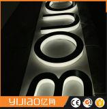 Signaux de lettres de canal LED à rétroéclairage avec vis en acier