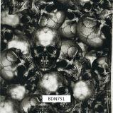 頭骨パターンHydrographicsの印刷のフィルム、水転送の印刷のフィルム、PVAのフィルム、モーターバイク(BDN751)のための液体の画像のフィルム