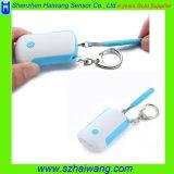 女性のためのChildren Keychain LEDライトが付いている緊急のパニック個人的なアラーム