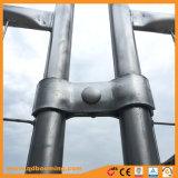 Rete fissa provvisoria saldata della rete metallica con i piedi di plastica