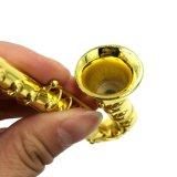 담배를 위한 Tobbacco를 위한 금속 큰 색소폰 연기가 나는 관