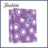 Purpurrotes volles Drucken-neuer Entwurf passen Büttenpapier-Einkaufen-Beutel an