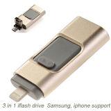 Nouvelle conception de matériel de métal lecteur Flash USB pour iPhone