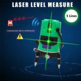Nivel láser verde de nivelación automática de 5 líneas de 360 grados al aire libre Medida de la cruz