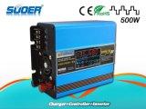 Suoer 500Wの充電器(SUS-500A)が付いている組み込みの太陽コントローラ12Vの太陽エネルギーインバーター